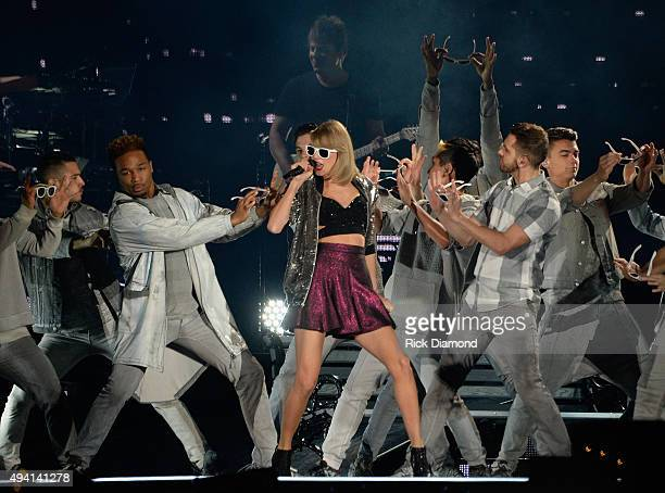 Taylor Swift performs at The 1989 World Tour at the Sold Out Georgia Dome on October 24 2015 in Atlanta Georgia