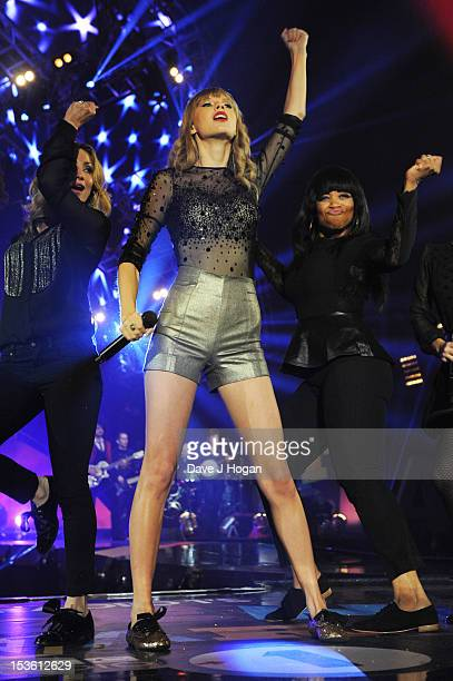 Taylor Swift performs at the BBC Radio 1 Teen Awards 2012 at Wembley Arena on October 7 2012 in London England