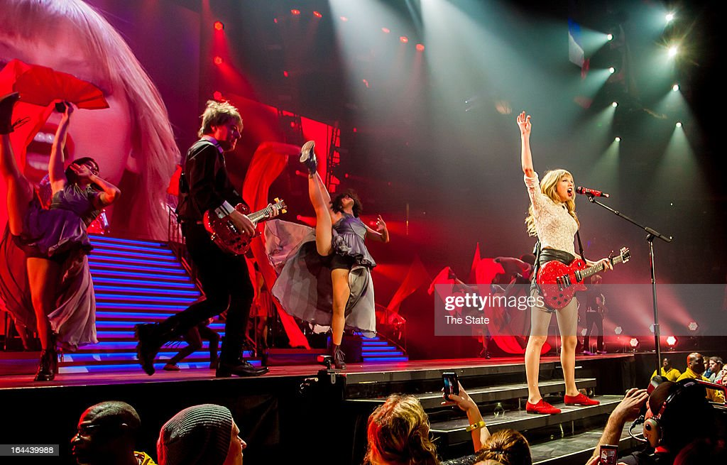 Taylor Swift performs at the Colonial Life Arena in Columbia, South Carolina, on Saturday, March 23, 2013.