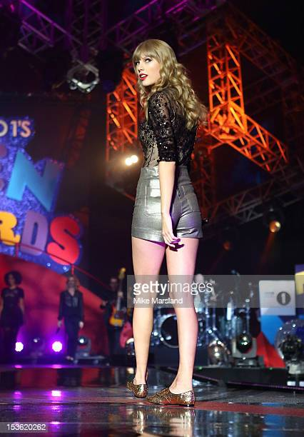 Taylor Swift performs at the Radio One Teen Awards at Wembley Arena on October 7 2012 in London England