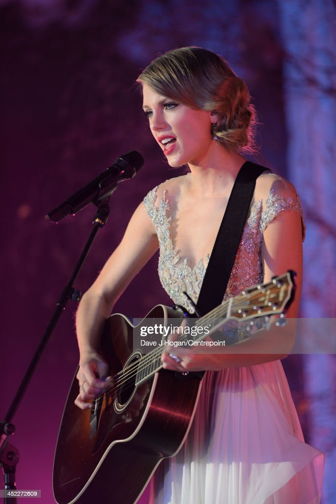 <a gi-track='captionPersonalityLinkClicked' href=/galleries/search?phrase=Taylor+Swift&family=editorial&specificpeople=619504 ng-click='$event.stopPropagation()'>Taylor Swift</a> performs at the Winter Whites Gala In Aid Of Centrepoint on November 26, 2013 in London, England.