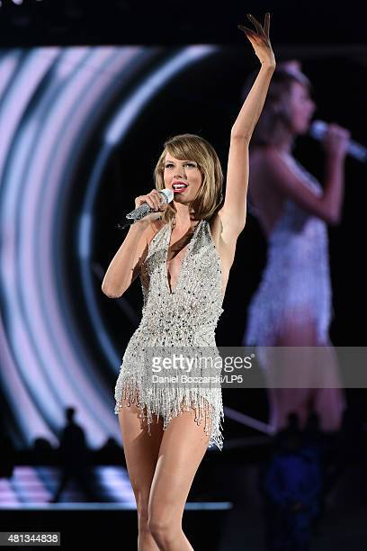 Taylor Swift performs during The 1989 Tour at Soldier Field on July 19 2015 in Chicago Illinois