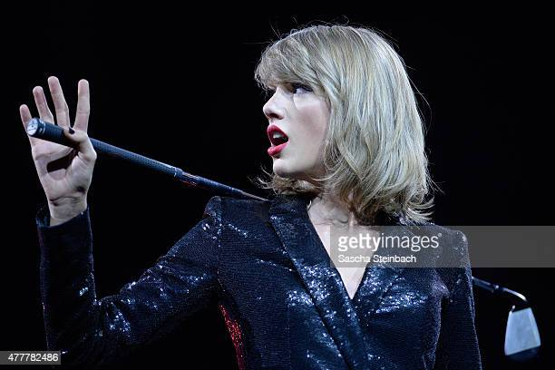Taylor Swift performs during 'The 1989 World Tour' night 1 at Lanxess Arena on June 19 2015 in Cologne Germany