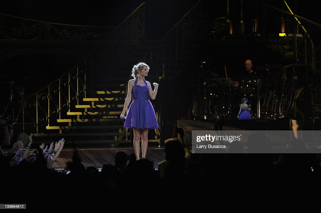 <a gi-track='captionPersonalityLinkClicked' href=/galleries/search?phrase=Taylor+Swift&family=editorial&specificpeople=619504 ng-click='$event.stopPropagation()'>Taylor Swift</a> performs during the 'Speak Now World Tour' at Madison Square Garden on November 21, 2011 in New York City. <a gi-track='captionPersonalityLinkClicked' href=/galleries/search?phrase=Taylor+Swift&family=editorial&specificpeople=619504 ng-click='$event.stopPropagation()'>Taylor Swift</a> wrapped up the North American leg of her SPEAK NOW WORLD TOUR with two sold-out shows at Madison Square Garden this week. In 2011, the tour played to capacity crowds in stadiums and arenas over 98 shows in 17 countries spanning three continents, and will continue in 2012 with shows Australia and New Zealand.