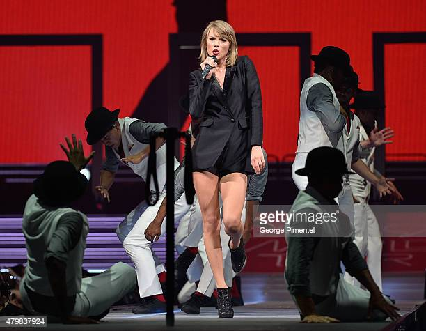 Taylor Swift performs for The 1989 World Tour Live at Bell Centre on July 7 2015 in Montreal Canada