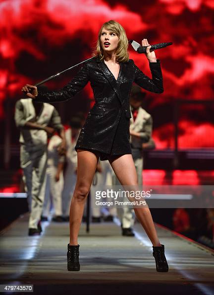 Taylor Swift performs for The 1989 World Tour Live at Canadian Tire Centre on July 6 2015 in Kanata Canada