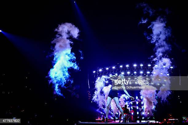 Taylor Swift performs live on stage during 'The 1989 World Tour' night 2 at Lanxess Arena on June 20 2015 in Cologne Germany