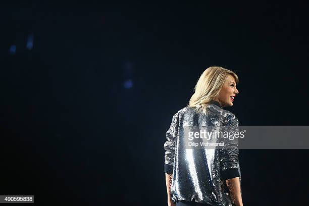 Taylor Swift performs onstage during the 1989 World Tour at Scottrade Center on September 29 2015 in St Louis Missouri