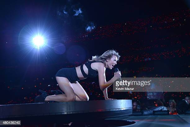 Taylor Swift performs onstage during The 1989 World Tour Live at MetLife Stadium on July 11 2015 in East Rutherford New Jersey
