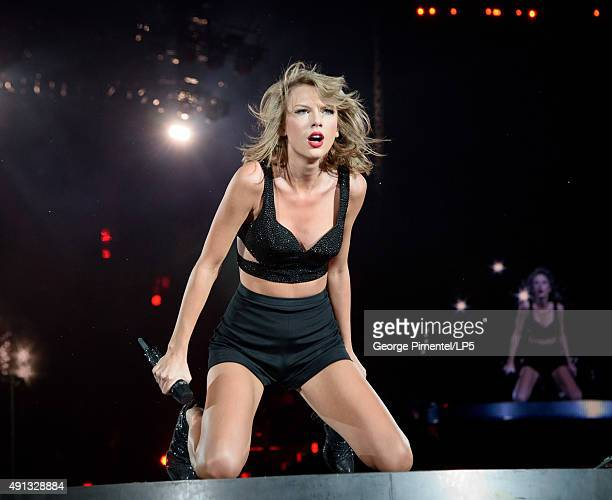 Taylor Swift performs onstage during the 1989 World Tour Live in Toronto Night 2 at Rogers Center on October 3 2015 in Toronto Canada