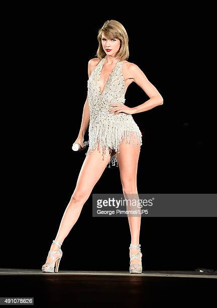 Taylor Swift performs onstage during the 1989 World Tour Live in Toronto at Rogers Center on October 2 2015 in Toronto Canada