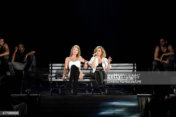 Taylor Swift performs onstage with musician Rachel Platten during The 1989 World Tour on June 13 2015 at Lincoln Financial Field in Philadelphia...