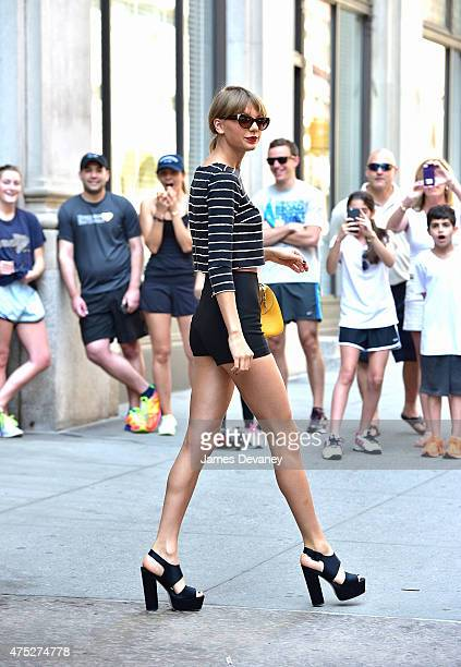 Taylor Swift seen on the streets of Manhattan on May 30 2015 in New York City