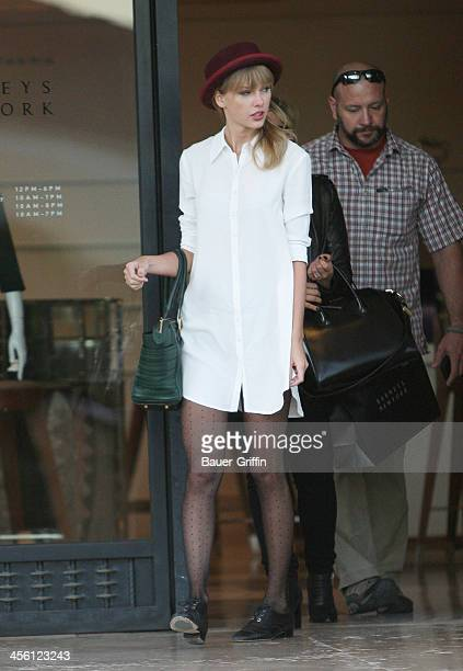 Taylor Swift shops at Barney's in Beverly Hills on September 30 2013 in Los Angeles California