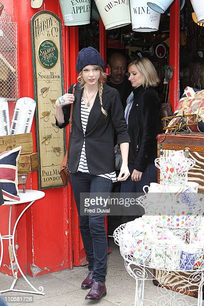 Taylor Swift sighted at an antique shop on Portobello Road on March 22 2011 in London England