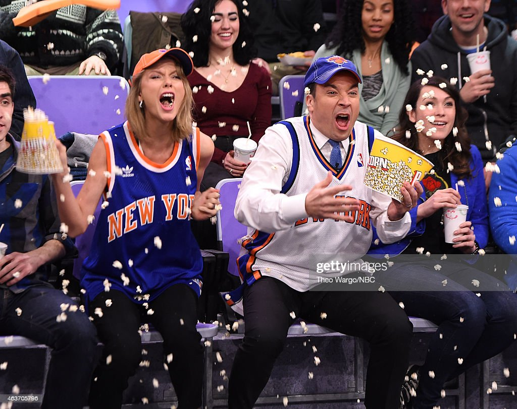 Taylor Swift Visits 'The Tonight Show Starring Jimmy Fallon' at Rockefeller Center on February 17, 2015 in New York City.