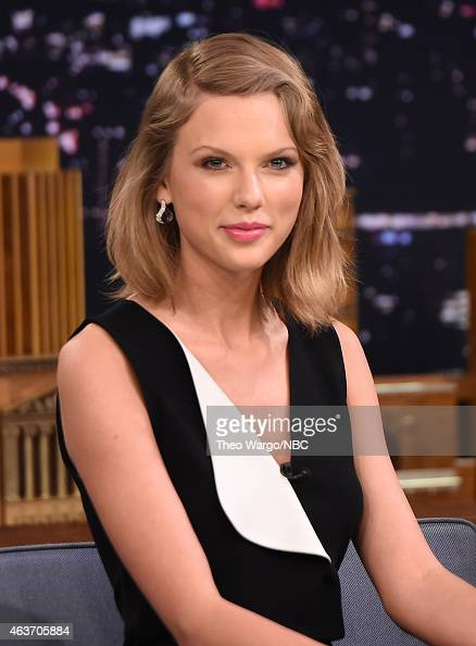Taylor Swift Visits 'The Tonight Show Starring Jimmy Fallon' at Rockefeller Center on February 17 2015 in New York City