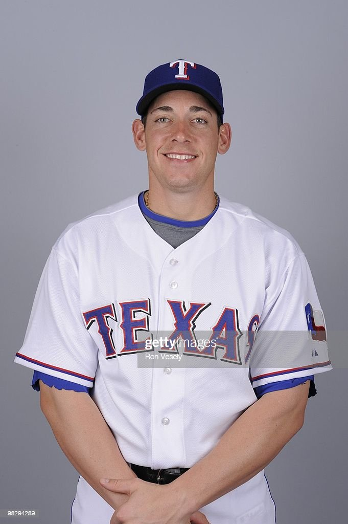 Taylor Teagarden of the Texas Rangers poses during Photo Day on Tuesday, March 2, 2010 at Surprise Stadium in Surprise, Arizona.