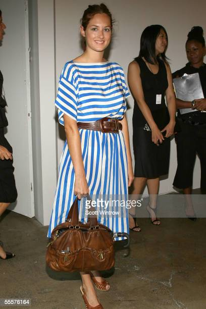 Taylor Tomasi attends the Phi Spring 2006 fashion show during Olympus Fashion Week September 15 2005 in New York City