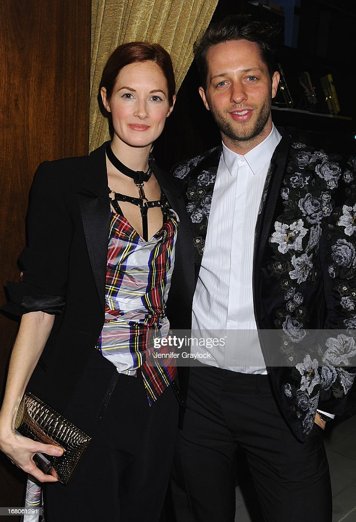 Taylor Tomasi Hill and Writer Derek Blasberg attend Moda Operandi and St. Regis Hotels & Resorts event 'A Midnight Supper' to celebrate the launch of the exclusive Punk Collection on preview at The St Regis New York on May 4, 2013 in New York City.