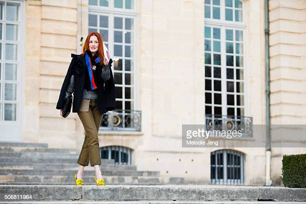Taylor Tomasi Hill at the Dior Couture show at Musee Rodin on January 25 2016 in Paris France