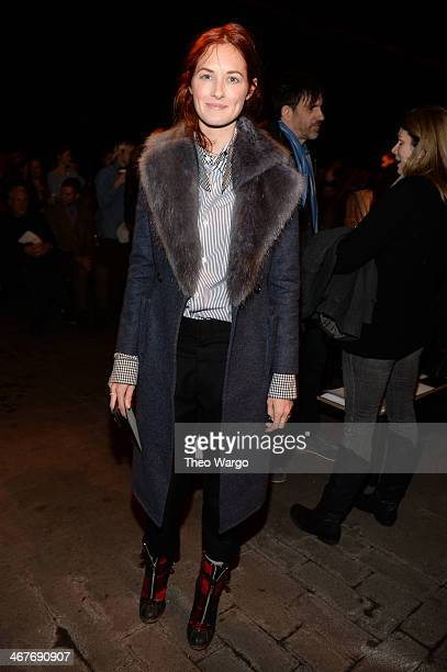 Taylor Tomasi Hill attends the Rag Bone Women's FW 2014 show at Skylight at Moynihan Station on February 7 2014 in New York City