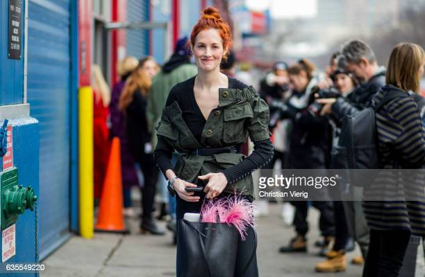 Taylor Tomasi Hill outside Delpozo on February 15 2017 in New York City