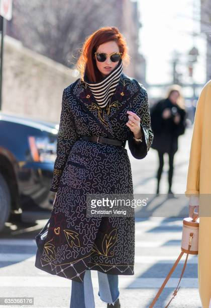 Taylor Tomasi Hill outside Gabriela Hearst on February 14 2017 in New York City