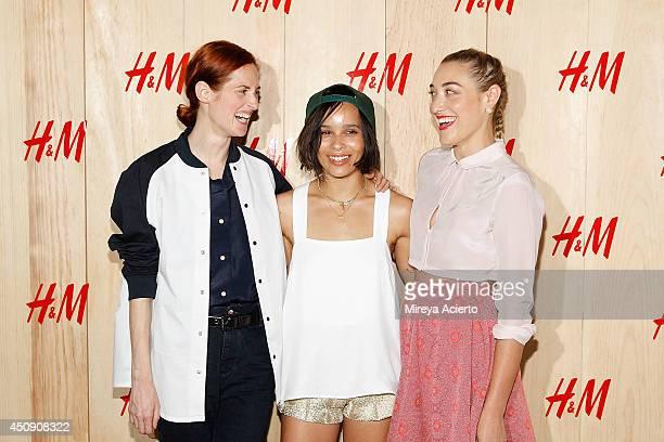 Taylor Tomasi Hill Zoe Kravitz and DJ Mia Moretti attend HM Summer Camp Party at Cafe de la Esquina on June 19 2014 in New York City