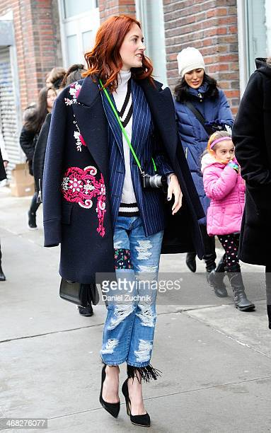 Taylor TomasiHill is seen outside the Thakoon show on February 9 2014 in New York City
