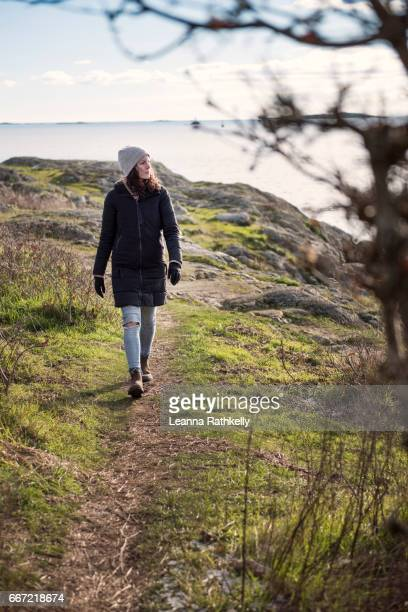 Taylor walks Cattle Point in Victoria, BC