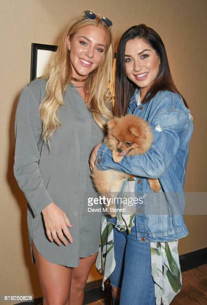 Taylor Ward and Darby Ward attend the launch of Rosewood's Canine Luxury Experience hosted by Rosewood London and Barbour in association with Lily's...