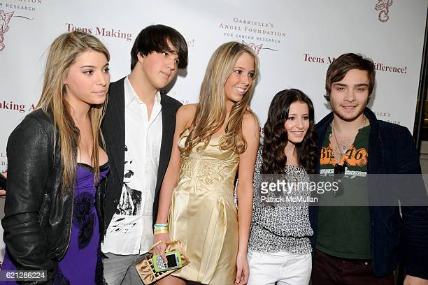 Taylor Welden Andrew Warren Karen Shiboleth Tiffany Giardina and Ed Westwick attend Caribou Iced Coffee Presents TEENS MAKING A DIFFERENCE Event to...