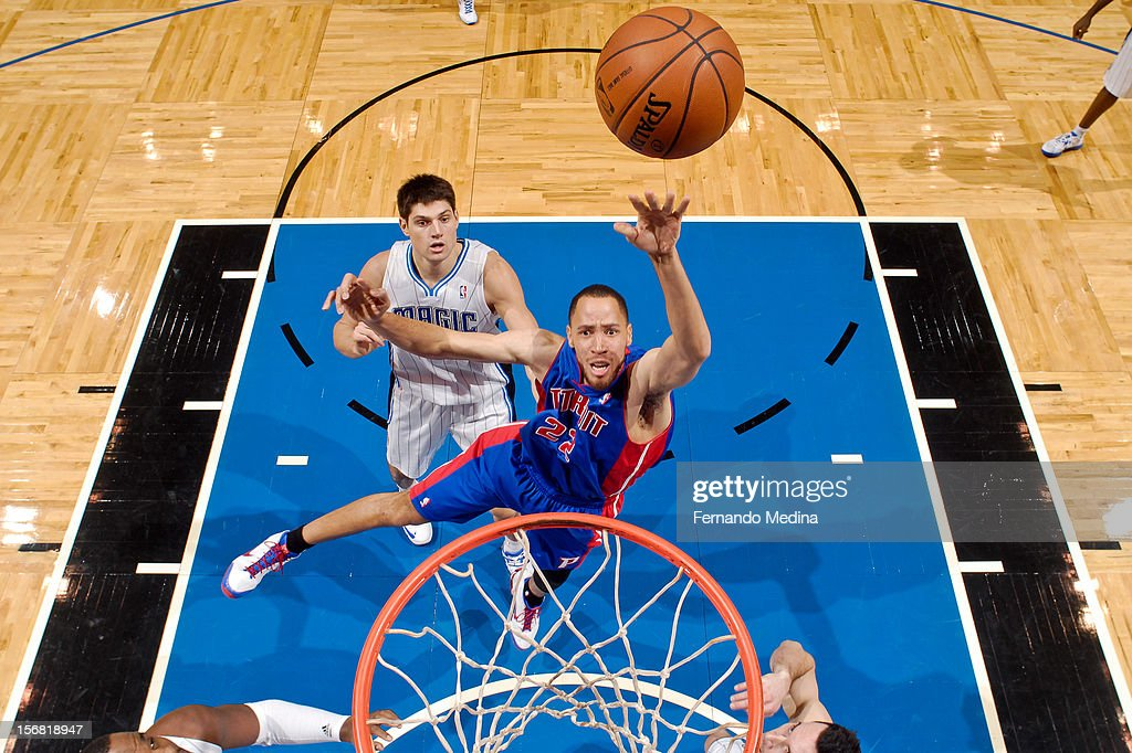 <a gi-track='captionPersonalityLinkClicked' href=/galleries/search?phrase=Tayshaun+Prince&family=editorial&specificpeople=201553 ng-click='$event.stopPropagation()'>Tayshaun Prince</a> #22 of the Detroit Pistons shoots in the lane against the Orlando Magic on November 21, 2012 at Amway Center in Orlando, Florida.