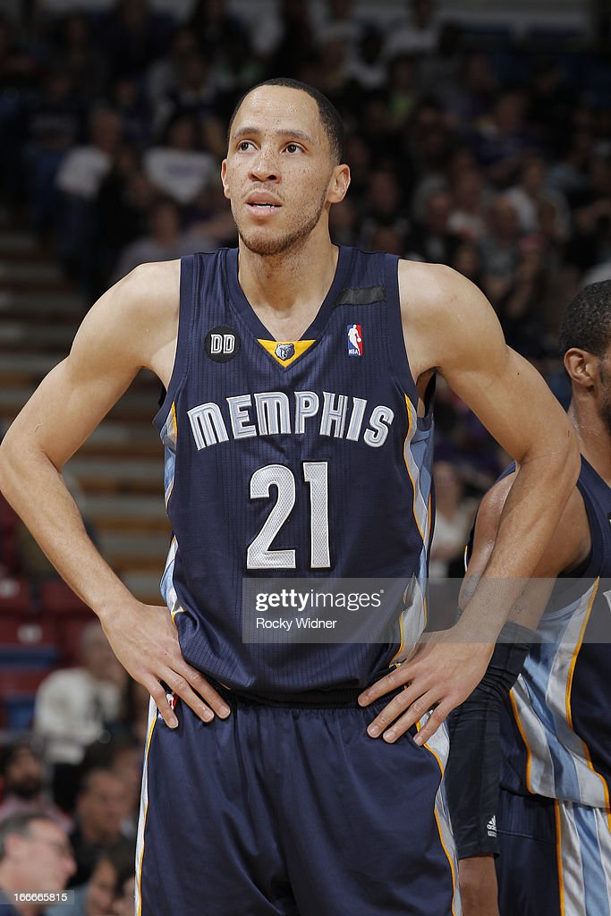 Tayshaun Prince #21 of the Memphis Grizzlies in a game against the Sacramento Kings on April 7, 2013 at Sleep Train Arena in Sacramento, California.