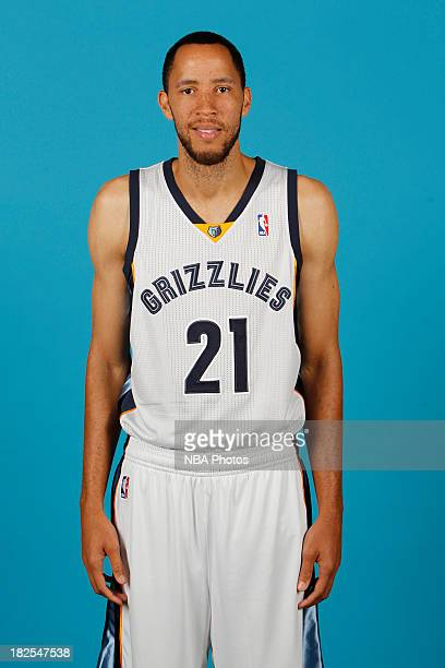 Tayshaun Prince of the Memphis Grizzlies poses for a portrait during media day at FedEx Forum on September 30 2013 in Memphis Tennessee NOTE TO USER...