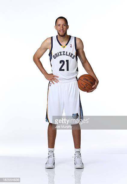Tayshaun Prince of the Memphis Grizzlies poses for a portrait during Memphis Grizzlies Media Day on September 30 2013 at FedExForum in Memphis...
