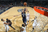 Tayshaun Prince of the Memphis Grizzlies shoots against the New Orleans Pelicans on January 9 2015 at Smoothie King Center in New Orleans Louisiana...