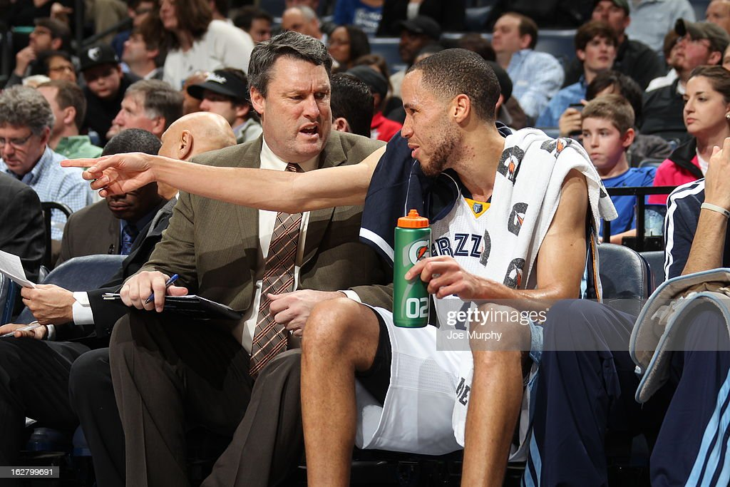<a gi-track='captionPersonalityLinkClicked' href=/galleries/search?phrase=Tayshaun+Prince&family=editorial&specificpeople=201553 ng-click='$event.stopPropagation()'>Tayshaun Prince</a> #21 of the Memphis Grizzlies sits on the bench during the game against the Phoenix Suns on February 5, 2013 at FedExForum in Memphis, Tennessee.