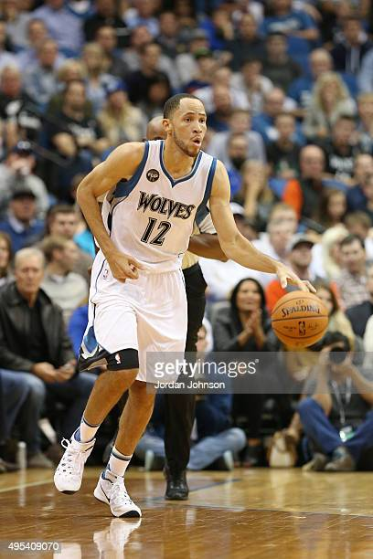 Tayshaun Prince of the Minnesota Timberwolves drives to the basket against the Portland Trail Blazers during the game on November 2 2015 at Target...