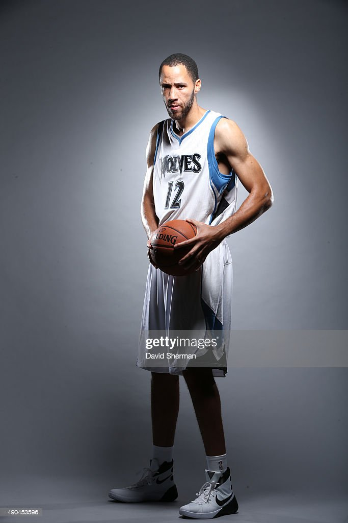 Tayshaun Prince of the Minnesota Timberwolves pose for portraits during 2015 Media Day on September 28 2015 at Target Center in Minneapolis Minnesota...