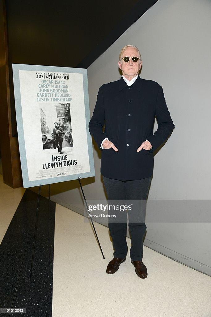 Bone Burnett attends a screening and Q A of 'Inside Llewyn Davis' at the Landmark Theater on November 20 2013 in Los Angeles California