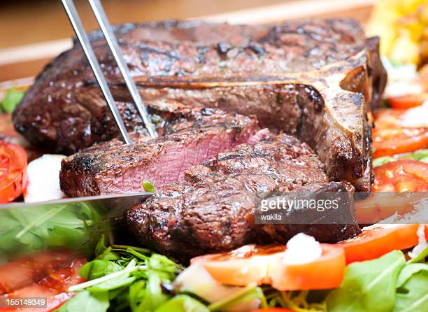 t-bone steak, medio