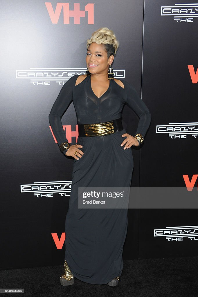 <a gi-track='captionPersonalityLinkClicked' href=/galleries/search?phrase=T-Boz&family=editorial&specificpeople=715877 ng-click='$event.stopPropagation()'>T-Boz</a> attends the CrazySexyCool Premiere Event at AMC Loews Lincoln Square 13 theater on October 15, 2013 in New York City.