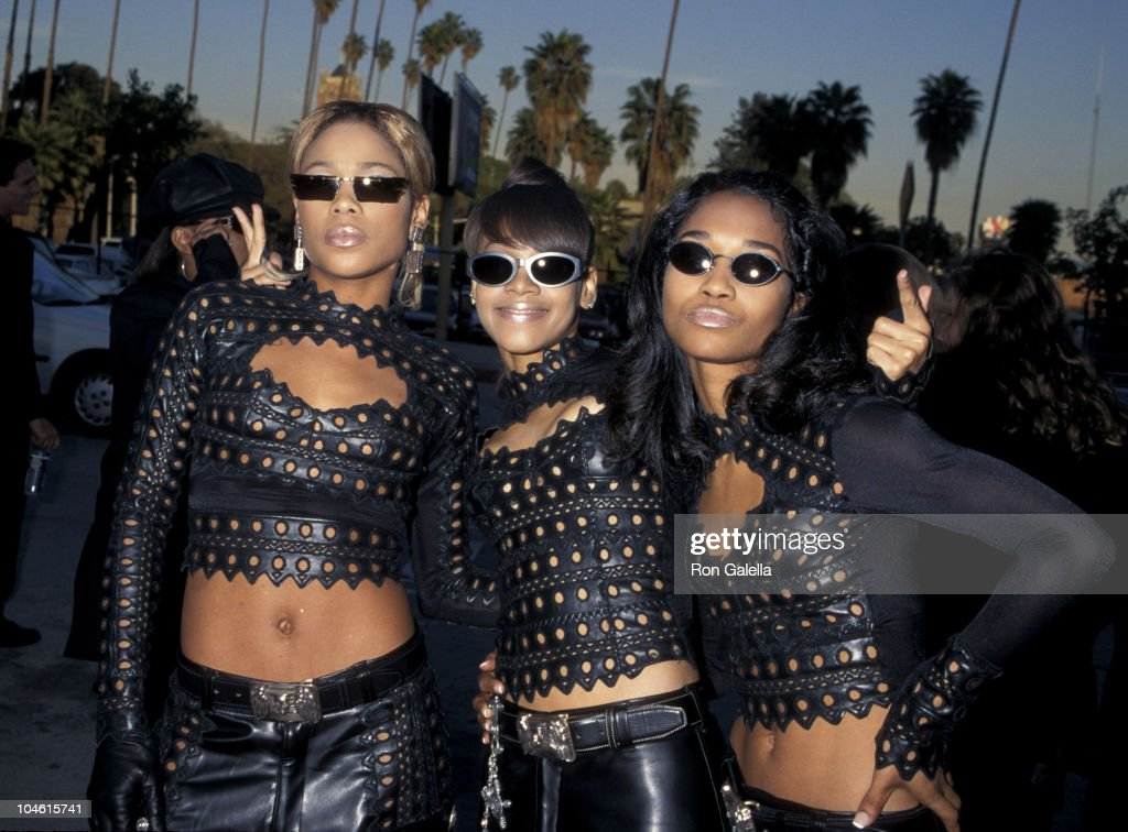 TBoz Lisa 'Left Eye' Lopes and Chilli of TLC during The 2nd Annual Blockbuster Awards at The Pantages Theatre in Los Angeles California United States