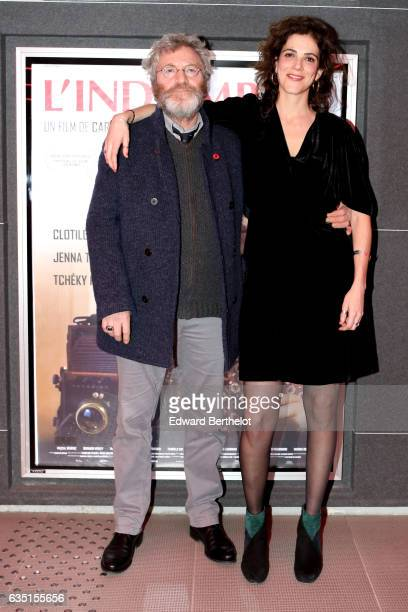 Tcheky Karyo and Caroline Deruas are seen during the 'Indomptee' movie Paris Premiere at MK2 Odeon on February 13 2017 in Paris France