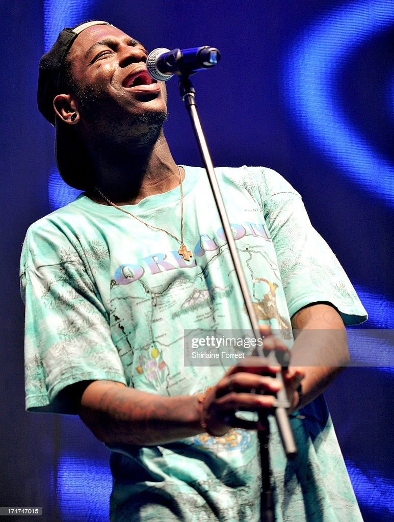 Te Qhairo Eugene of The Lovable Rogues performs at Key 103 Live at Manchester Arena on July 28, 2013 in Manchester, England.