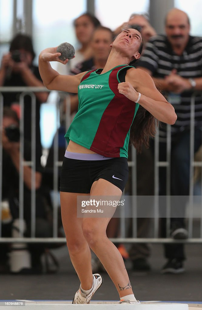 Te Rina Keenan competes in The Shot In The City at The Cloud on Queen's Wharf on March 2, 2013 in Auckland, New Zealand.