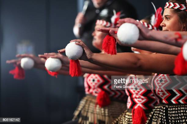 Te Waka Huia of Auckland perfom during Te Taumata Kapa Haka at The Cloud on July 1 2017 in Auckland New Zealand The Matariki Festival is an annual...