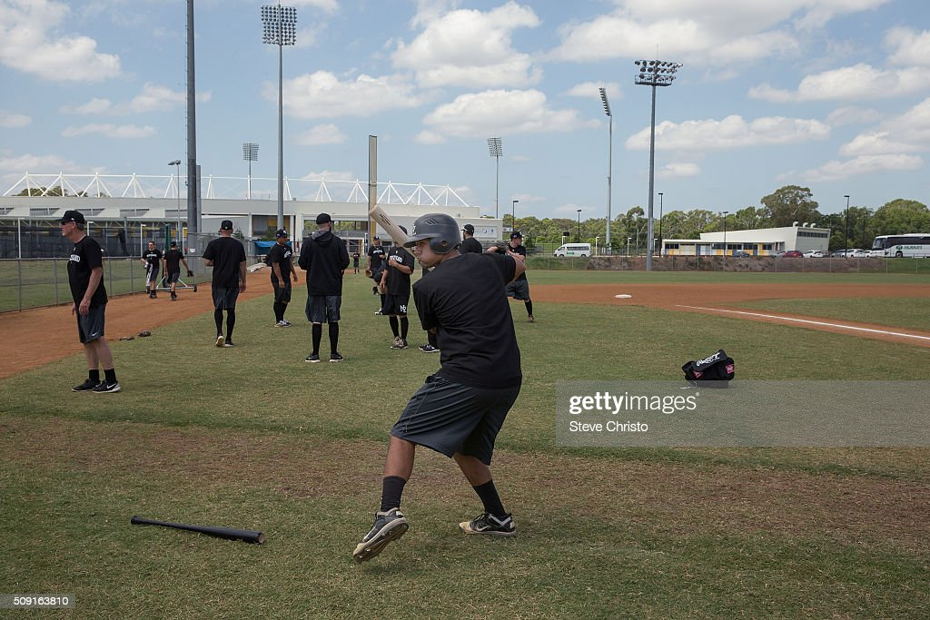 Te Wera Bishop #35 of Team New Zealand gets ready batting practice for the World Baseball Classic Qualifier at Blacktown International Sportspark on Tuesday, February 9, 2016 in Sydney, Australia.